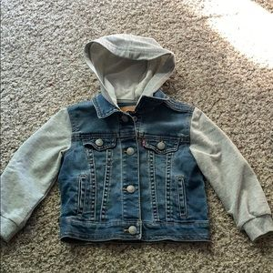 Levi's Jackets & Coats - Levi's toddler jean jacket with sweatshirt sleeves